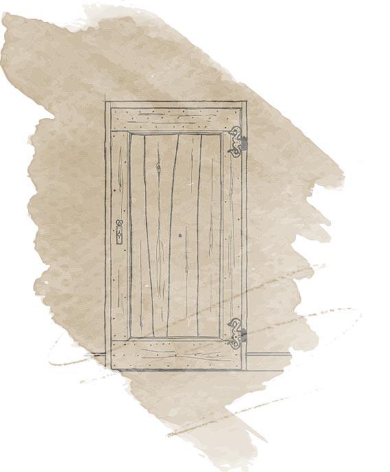 illustration porte en bois - Nicolas Novara
