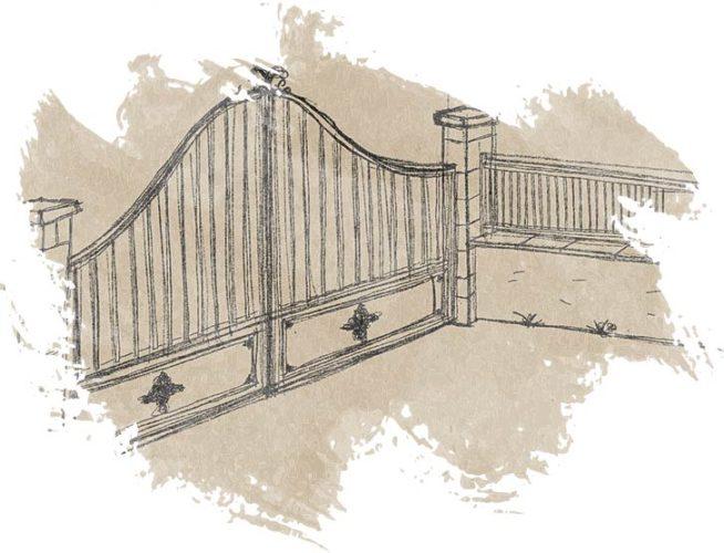 illustration portail - porte de garage - Nicolas Novara